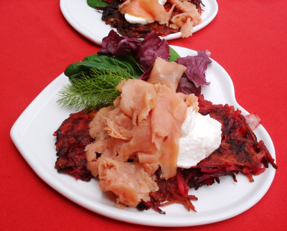 Love is in the air..... with beetroot rösti! beetroot rosti 1