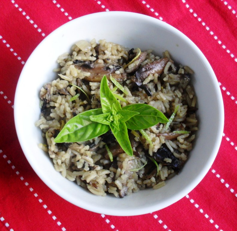 delicious risotto with mushrooms and lemon