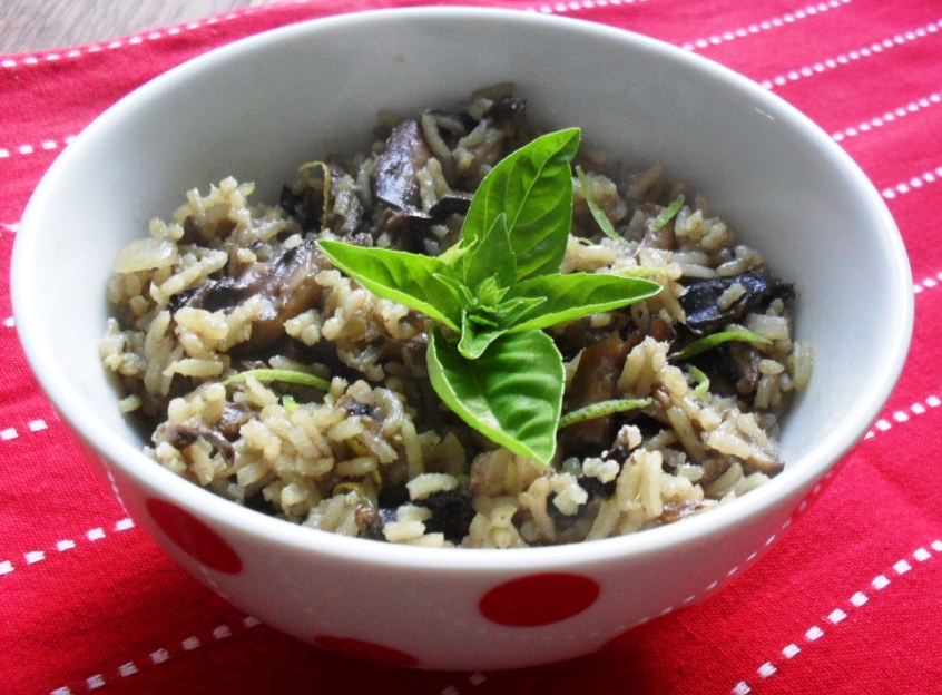 Mushroom and Lemon Risotto for Meatless Mondays mushroom and lemon rissoto 2
