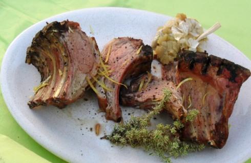 Rack of lamb with lemon and garlic