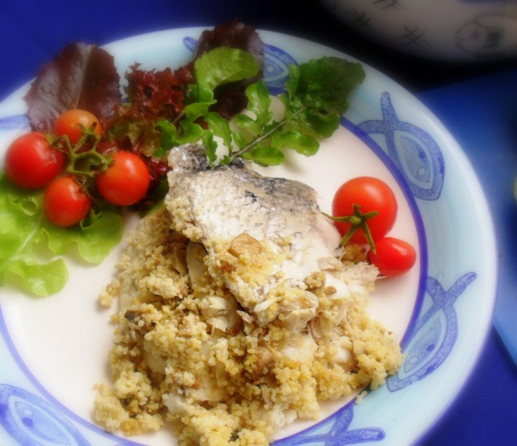 Stumpnose fish stuffed with couscous couscous fish 4 1