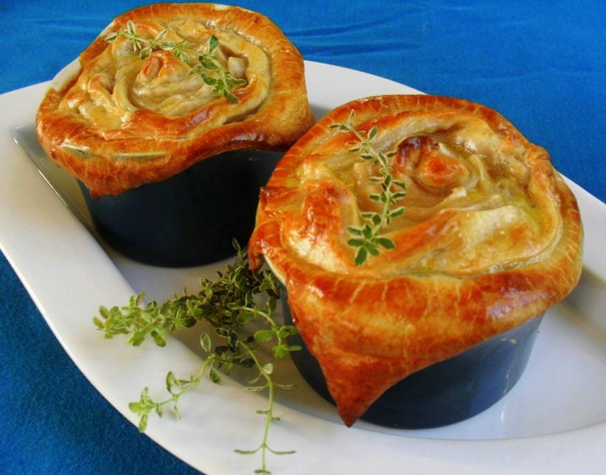 Mushroom pot pies recipe