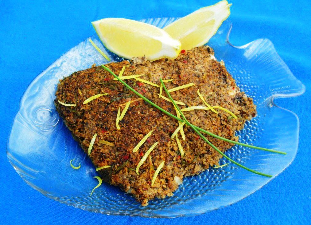 Mushroom encrusted kingklip fillets recipe